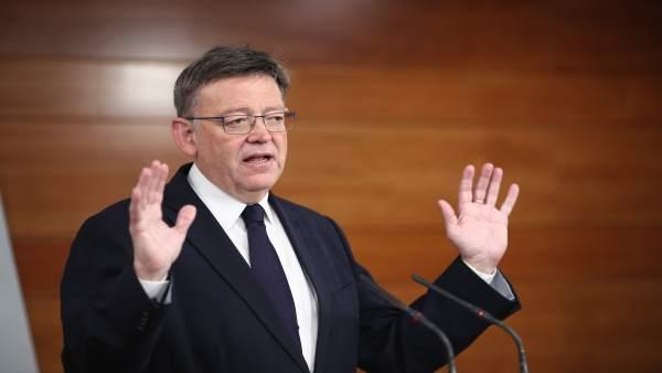 Rueda de prensa de Ximo Puig en Moncloa tras reunirse con Rajoy