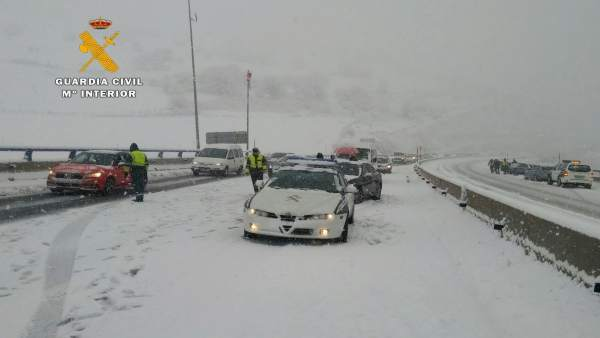 Nieve en A67 Montabliz