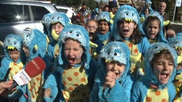 Desfile infantil del Carnaval Romano