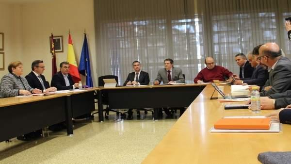 Imagen de la reunión del Pacto Regional del Agua
