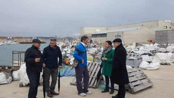 Visita al puerto de Conil (Cádiz).