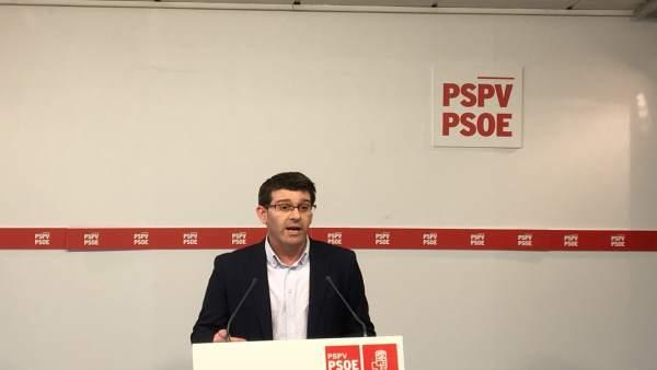 """Rodríguez (PSPV) insta a viure amb """"generositat"""" les postprimàries per a reforçar el """"mateix"""" projecte de Puig i Sánchez"""