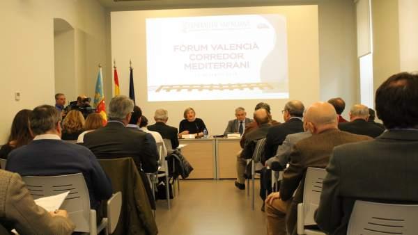 Salvador y Boira en el Fòrum Valencià pel Corredor Mediterrani