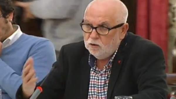 El diputado de IU en la Diputación de Cádiz Antonio Alba
