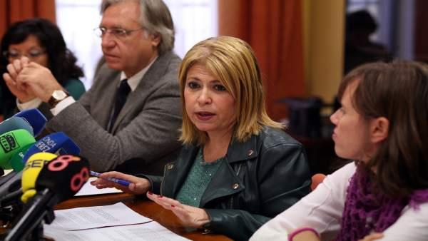 Mamen Sánchez, alcaldesa de Jerez en rueda de prensa