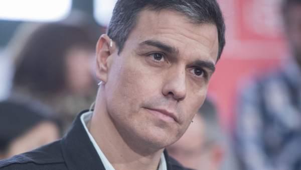 El secretario general del PSOE, Pedro Sánchez, el sábado en un acto en Castellón.