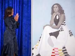 El vestido del retrato de Michelle Obama tiene mensaje
