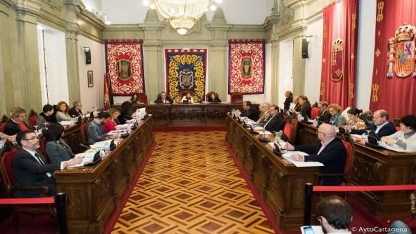 Pleno ordinario del Ayuntamiento de Cartagena