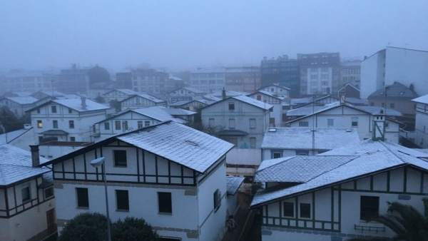 Imagen de la nieve en Lugo, Galicia