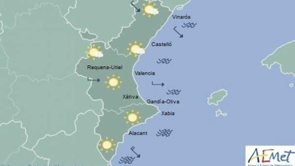 Les pluges deixen pas a cels poc nuvolosos i temperatures màximes en ascens aquest dimarts a la Comunitat Valenciana