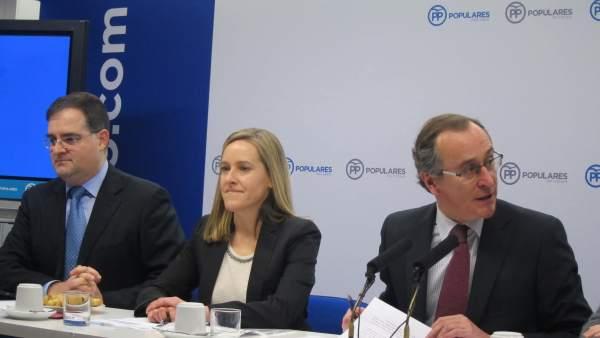 Alfonso Alonso y Amaya Fernández (PP vasco)