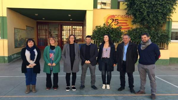Visita de Marzà (centro) a Censal