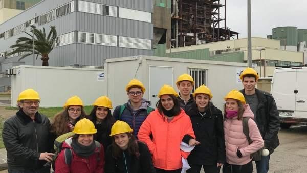 Visita alumnos central térmica
