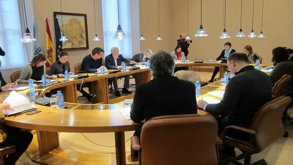Reunión de la junta de portavoces en el Parlamento gallego