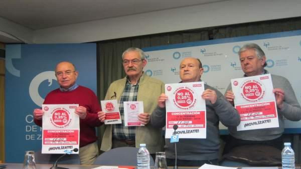 UGT y CCOO Aragón inician movilizaciones para reclamar pensiones 'dignas'