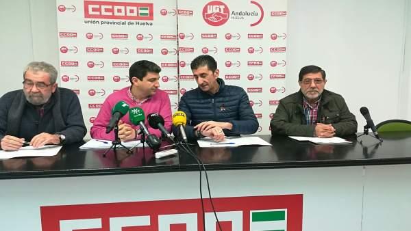 En el centro, Emilio Fernández y Sebastián Donaire.