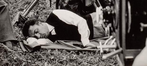 Federico Fellini durante el rodaje de 'La dolce vita', 1960