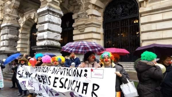 Protesta de las trabajadoras de Garbialdi