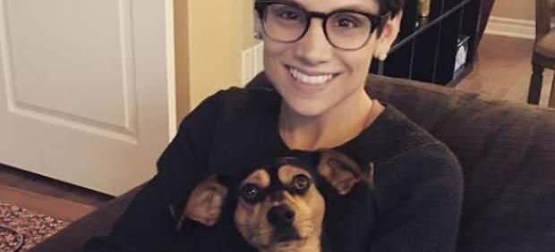 Una campeona del mundo de patinaje adopta a un perro que iba a ser cocinado