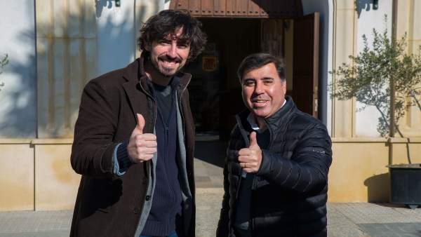 Lozano (izda.) y Ruiz, durante su encuentro