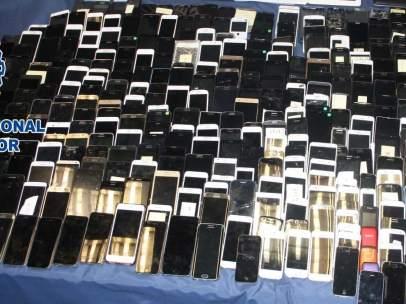 Móviles robados recuperados por la Policía