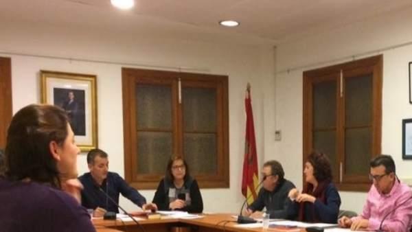Sesión en el Ayuntamiento de Sencelles
