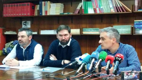 Izquierdo, Fernández y Ruano, en la rueda de prensa