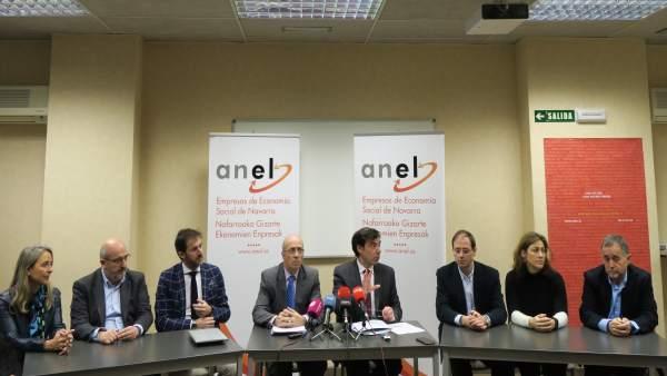 Ignacio Ugalde, en rueda de prensa de ANEL.