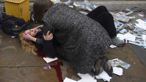 Herida en el atentado de Westminister