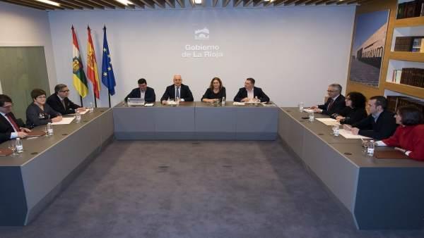 Reunión alcaldes cabecera de comarca con Ceniceros
