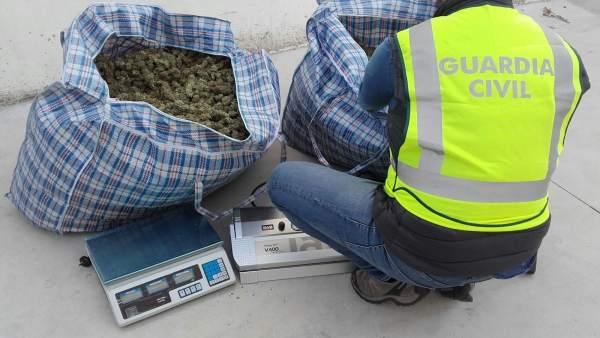 Droga intervenida en una operación en Santa Fe