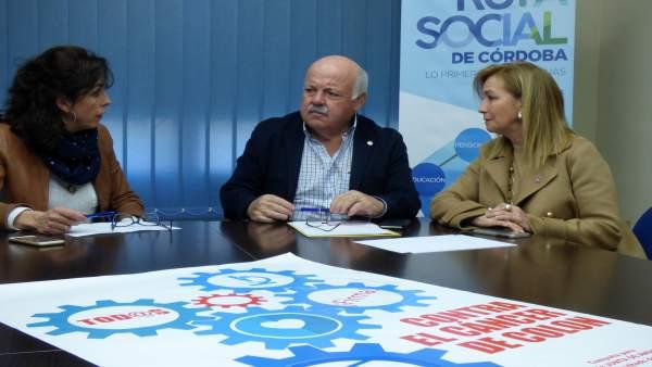Jesús Aguirre y María Luisa Ceballos con la AECC