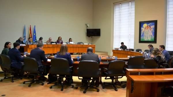 Reunión de la comisión primera en el Parlamento de Galicia