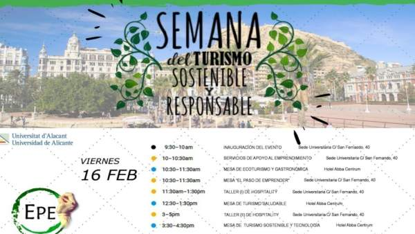 Tríptico de la I Semana del Turismo Sostenible y Responsable