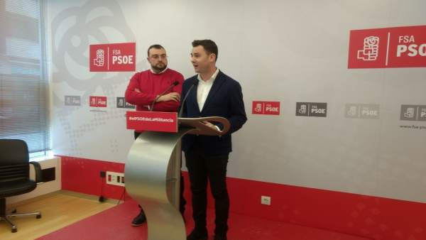 Javier Cendón y Adrián Barbón.