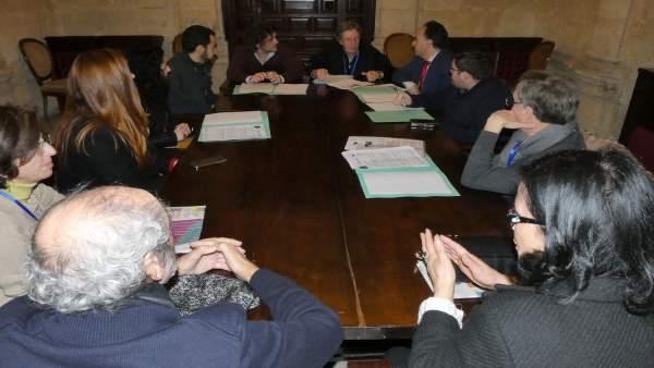 Reunión de plataforma en defensa del patrimonio con grupos municipales