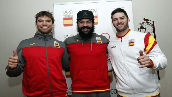 Lucas Eguibar, Regino Hernández y Laro Herrero, snowboarders en PyeongChang