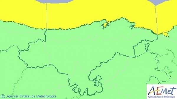 Mapa de aviso por costeros