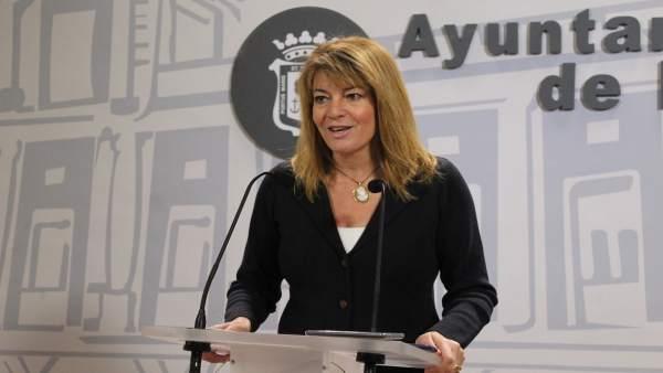 La portavoz del grupo municipal del PP en el Ayuntamiento, Pilar Miranda.