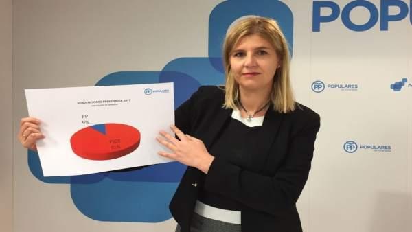 La diputada provincial del PP Inmaculada Hernández