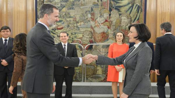 Gema Igual con Felipe VI