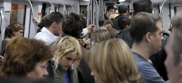 Vagón del Metro de Barcelona.