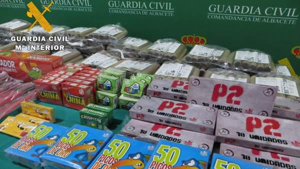 Opc Albacete. Nota De Prensa (Incautación 4.549 Unidades De Material Pirotécnico