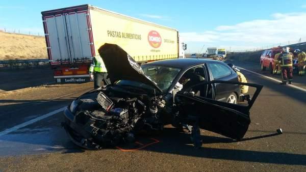El accidente ha ocurrido en la autovía A-23
