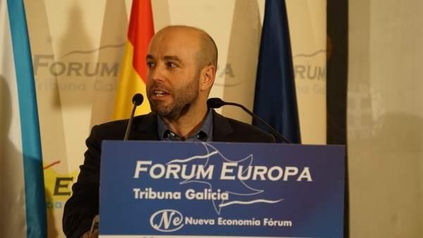 Luís Villares en el desayuno de Fórum Europa
