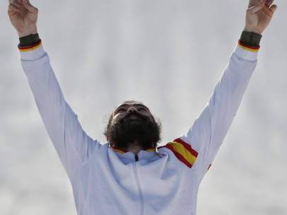 Regino Hernández celebra su bronce en PyeongChang 2018