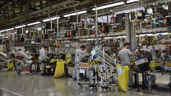 Cadena de montaje de Renault en Valladolid