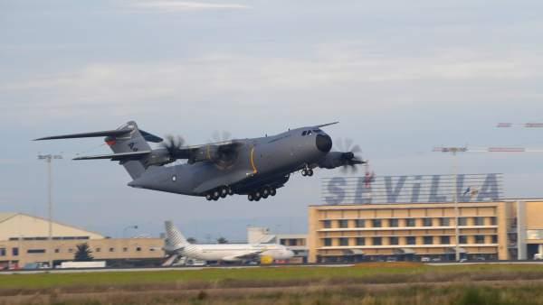 Primer vuelo del cuarto A400M