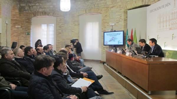 Presentación del proyecto de riego para la presa de Siles