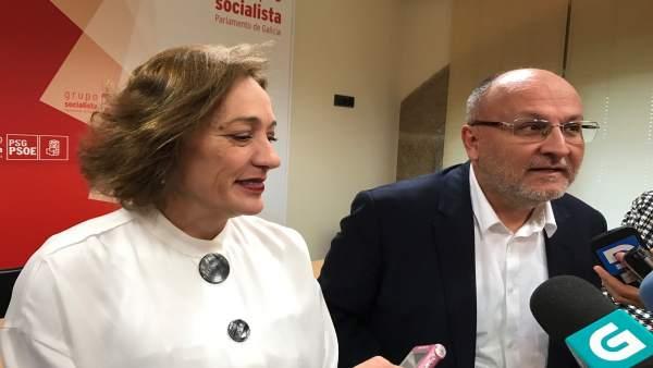Abel Losada y Obdulia Taboadela, grupo de trabajo PSOE en demografía